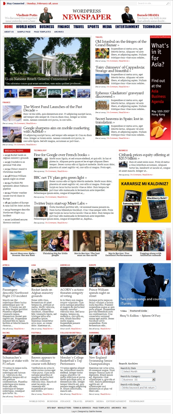Great Magazine Newspaper Style Wordpress Themes Anvanced Newspaper2