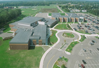 glhs high school from the air