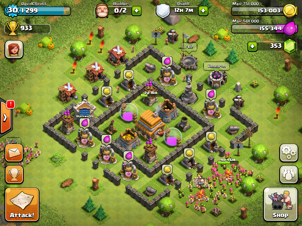 senior david scott s screen shot of game clash of clans one of the