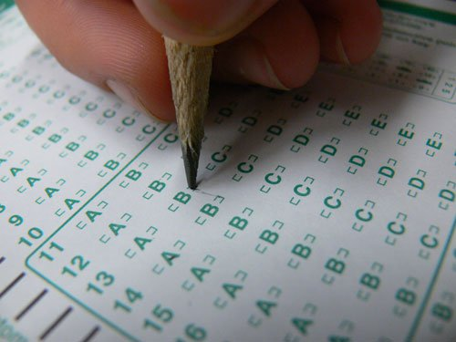 """Many students in the Midwest will take the ACT which will """"determine"""" if they are prepared for college. Photo By: Natalie Herson"""
