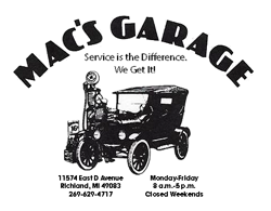 Macs Garage Ad