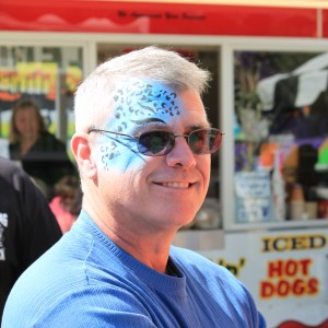 One of the bedazzled fairgoers enjoying the fun family times the fair provides.