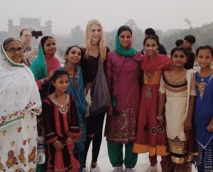 While senior Tiffany Cummings visited the Taj Mahal, many people requested to take a picture with her, as she was so foreign and unfamiliar looking. Photo courtesy of Tiffany Cummings.