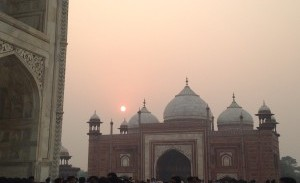 The Taj Mahal stands in the distance. This was just one of the places Cummings was able to visit. Photo courtesy of Tiffany Cummings.