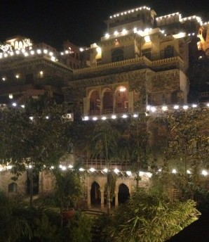 Neemrana Fort Palace was home to Cummings and her family for one night: a gift and blessing from their hosts. Photo courtesy of Tiffany Cummings.