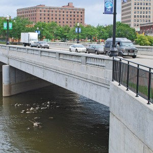 The Flint River's water is unsafe for drinking, and was not treated for corrosivness by the state government. Photo courtesy of wikimedia.