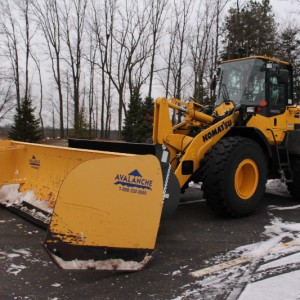 The Snow Removal equipment used by Gull Lake Community Schools to clear snow off of parking lots. Photo by Maddie Hugh.