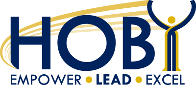 The logo for the Hugh O'Brian Youth conference. Their motto is Empower, Lead, Excel. Photo courtesy of hoby.org.