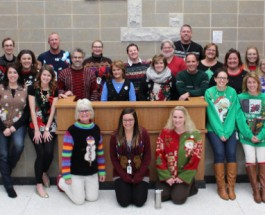 Christmas ugly sweaters celebrate holiday week