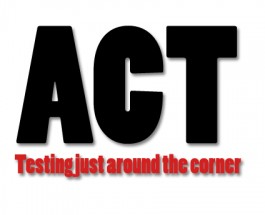 This year on first day of ACT testing only juniors attend school at high school