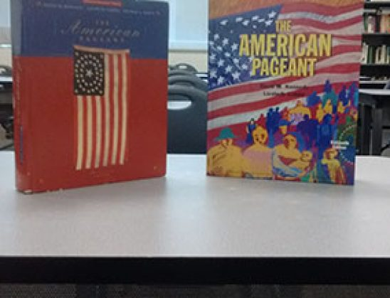 Advanced Placement United States History students receive new textbooks