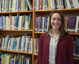 Betsy Bergeron, GLHS's new librarian, is a poet and she knows it