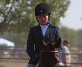Marissa King competes at equestrian state final meet