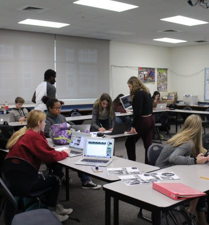 The creative process and hard work of Yearbook