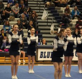 Gull Lake Varsity Cheer takes on SMAC meet
