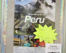 Student plans for school trip to Peru