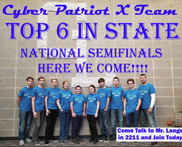 Cyberpatriot Teams announce participation in the states competition