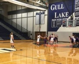 Girls freshmen basketball team wins their first game of the season