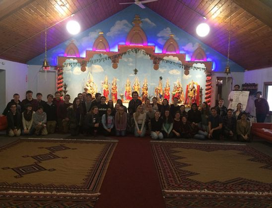 Gull Lake High School students visit Indo American Culture Center
