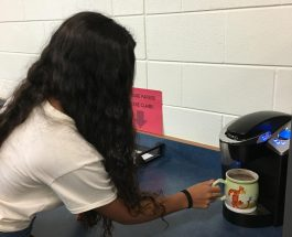Sophomore Madi Murphy warms hearts with hot chocolate